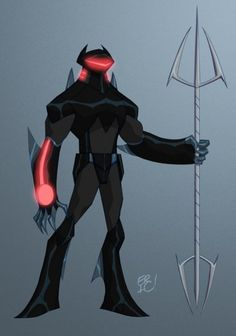 Note: Baltimore's own Black Manta returns for a second appearance here at P:R, this time courtesy of Eric Guzman. Guzman does an excellent makeover of Manta's oft-times uncomfortable headgear, and doesn't stop there. I love the fins, and the red glowing elements. – Chris A.