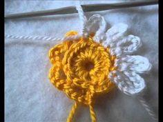 ▶ Урок Вязания Крючком. Мотив с Цветком. Ч 1 Crochet Motif Part 1. - YouTube