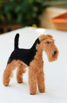 I have talked a few times (here and here) about my buddy Alice, who makes miniature needle felted dogs. Her