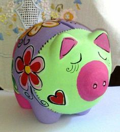 Pig parede - cofrinho cerâmica