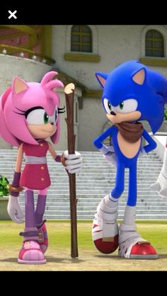 Sonic and Amy. Sonic Boom. Their so cute.