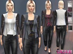 The Sims Resource: Female fall set by Sims2fanbg • Sims 4 Downloads