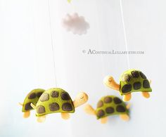 Very cute turtle mobile