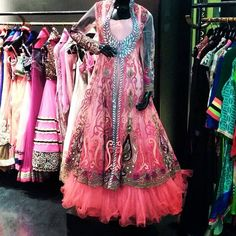 Beautiful jacket embroidered lehenga and embellished with crystals.