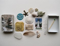a match box filled with treasures!! What a delightful idea!