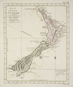 Check out Captain Cook& Map of the Coast of New Zealand (Large) at New Zealand Fine Prints Glenn Jones, Map Of New Zealand, Captain James Cook, Kiwiana, Historical Maps, Vintage Maps, Vintage Travel, Old Maps, Place Names