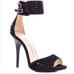 Chinese Laundry Black Ankle Strap Heels