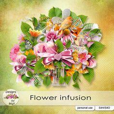 Flower infusion kit by Designs by Brigit - $2.99 : Digital Scrapbooking Studio