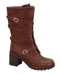 $29.99 Loving this Cognac Benson Strap Boot on #zulily! #zulilyfinds
