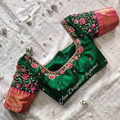Here is the ultimate list of pattu saree blouse designs for bridal, engagement or any occassion. Just look at the pictures and pick one for yourself. Cutwork Blouse Designs, Wedding Saree Blouse Designs, Half Saree Designs, Pattu Saree Blouse Designs, Simple Blouse Designs, Stylish Blouse Design, Dress Designs, Hand Work Blouse Design, Maggam Work Designs