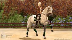 Dressage in Sims 3 Pets by inspired-by-horses on deviantART