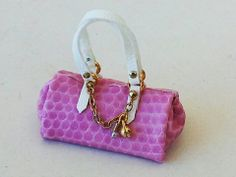 1/12 scale Pink Hand BAG lady accessories by artisan Dollhouse miniature