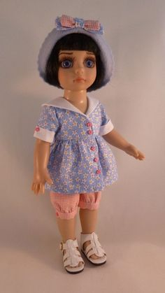 """Summer Outfit for 10"""" Patsy / Ann Estelle Tonner Dolls by Apple"""