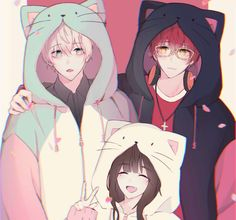 Awww Seven Hug me (too)! Mystic Messenger Characters, Mystic Messenger Fanart, Cute Anime Chibi, Kawaii Anime, Seven Mystic Messenger, Yandere Manga, Anime Friendship, Fandom Games, Dibujos Cute
