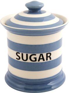Fairmont & Main Blue Stripe Sugar Jar