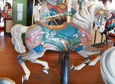 1922 PTC Carousel at Santa Monica Pier, second row jumper Carosel Horse, Sea Isle City, Circle Game, Wooden Horse, Painted Pony, Merry Go Round, Santa Monica, Bird Houses, The Row