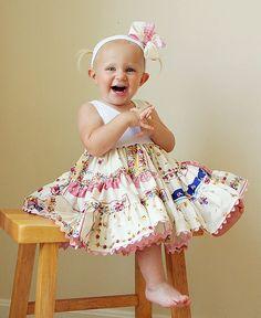 Hankie Dress Retro Swing  Newborn to 3T. $58.00, via Etsy.