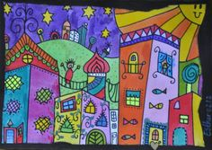 Met de kinderen Hundertwasser Schilderen   Droomvallei