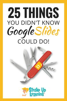 25 Things You Didn't Know Google Slides Could Do: I talk about the wonders of Google Slides CONSTANTLY and frequently refer to it as the Swiss Army Knife of G Suite. It can do all kinds of things! In this post, I will show you 25 Things You Didn't Know Google Slides Could Do. #google #edtech #googleclassroom #education | google keep | google classroom | edtech | shakeuplearning.com