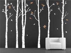 Birken-Baum-Wandtattoos Wald von Amazingdecals auf DaWanda.com