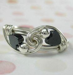Anillo corazón alambre envuelto anillo Valentine por holmescraft