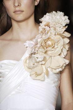 one shoulder embellishments