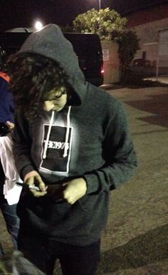 Matty wearing his own merch. Iconic