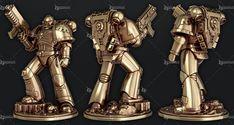 3D Модель для 3D Принтера - Warhammer 40000 - Space Marine