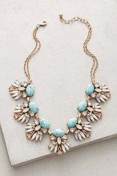 Dear Stylist: I love the pop of color that the turquoise brings to this necklace. Cute Jewelry, Jewelry Box, Jewelery, Jewelry Accessories, Jewelry Design, Geek Jewelry, Designer Jewelry, Jewelry Bracelets, Pinterest Jewelry