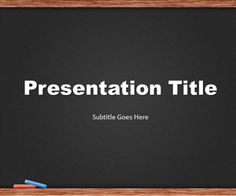 Blackboard PowerPoint template is a blackboard design for education PowerPoint presentations that you can download to make awesome presentations in Microsoft Power Point 2010 and 2007