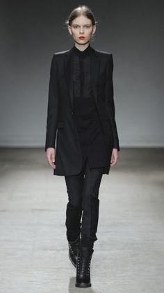 Nicolas Andreas Taralis / Fall-Winter 2011-2012 / Look for sleeves buttoned inside / www.nicolasandreastaralis.com/