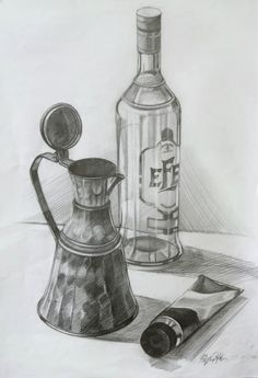 cam şişe çizimi