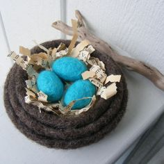 Made to OrderSmall set of 3 Felted Nesting by moonflowercreations, $24.00