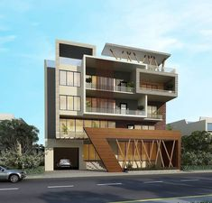 40 Top Beautiful Exterior House Designs ideas - Engineering Discoveries Architecture Building Design, Modern Architecture House, Facade Design, Modern Buildings, Architecture Interiors, Beautiful Architecture, 3 Storey House Design, Bungalow House Design, Modern Bungalow