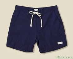 Latest men's fashion CURTIS BOARD SHORT 2014. Enter Saturdays Surf NYC,  has created the fantastically straightforward botanist Board Short; made of 100 percent nylon, the navy shorts are double lined with a tie closure, Velcro fly, and welt pocket within the back.