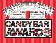 Amy Harrod is having a wonderful sale and these adorable Candy Bar Awards are FREE until Friday.  She has some wonderful products in her store that are on sale this week too!!!