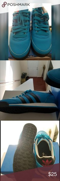 Women Comfortable Sneakers Decided to add these before sliding the closet down. Turquoise, Black &a Hot pink sneakers. Great with jeans or shorts. Comfortable worn a handful of time but still like new. Offered are always welcomed No Trades! Adidas Shoes Sneakers