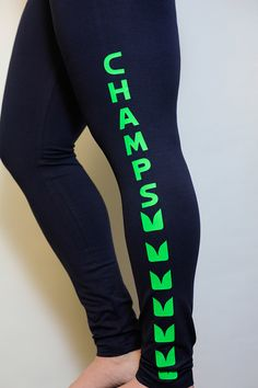 Seattle Seahawks Women's Navy Leggings  Ladies by TheSweatLifeShop, $37.00