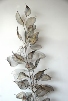 Incredible art created from hand-cut super-thin woven metal by  Michelle Mckinney. Click to enlarge