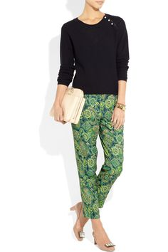 Love print pants...  By Malene Birger | Printed silk-twill pants | NET-A-PORTER.COM