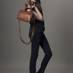{satchel - handheld or cross-body} this is the go-anywhere bag! classic.