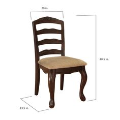 Shop Furniture of America Shak Traditional Walnut Dining Chairs (Set of 2) - Overstock - 9148619 Black Glass Dining Table, Walnut Dining Chairs, Dining Chair Set, Traditional Dining Chairs, Wood Veneer, Solid Wood, Upholstery, America, Furniture