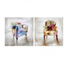 Cuadros Modernos Abstractos Sillones, díptico lienzo pintura al óleo. Cuadros y Pinturas en Nuryba.com tu tienda decoracion de interiores online