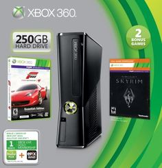 Game Console Microsoft Xbox 360 250GB Holiday Value Bundle #Game #Xbox360