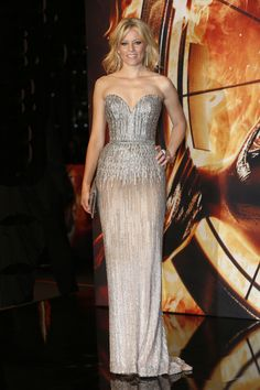 Elizabeth Banks in ELIE SAAB Haute Couture Fall Winter 2013-2014 at the Berlin premiere of 'The Hunger Games: Catching Fire.'