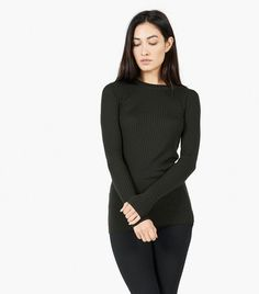 Everlane The Ribbed Wool Long-Sleeve