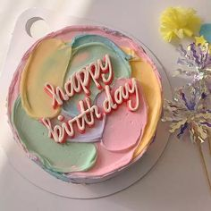 Pretty Birthday Cakes, Pretty Cakes, Beautiful Cakes, Amazing Cakes, Cake Birthday, Happy Birthday, Mini Cakes, Cupcake Cakes, Frog Cakes