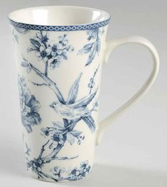 Entertain, gather, and turn your house into a home that's undeniably yours with the Adelaide Blue and White Latte Mug by 222 Fifth (PTS). Blue Roses, Blue Flowers, White Soup, Coffee Candle, Blue Dinnerware, Latte Mugs, Canister Sets, China Patterns, Chinoiserie