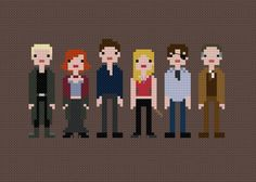 Pixel People - Buffy the Vampire Slayer - PDF Cross-stitch Pattern Cross Stitching, Cross Stitch Embroidery, Cross Stitch Patterns, Diy Arts And Crafts, Cute Crafts, Hama Beads, Buffy Im Bann Der Dämonen, Nerd Herd, Buffy The Vampire Slayer