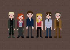 Buffy - pixel people cross stitch